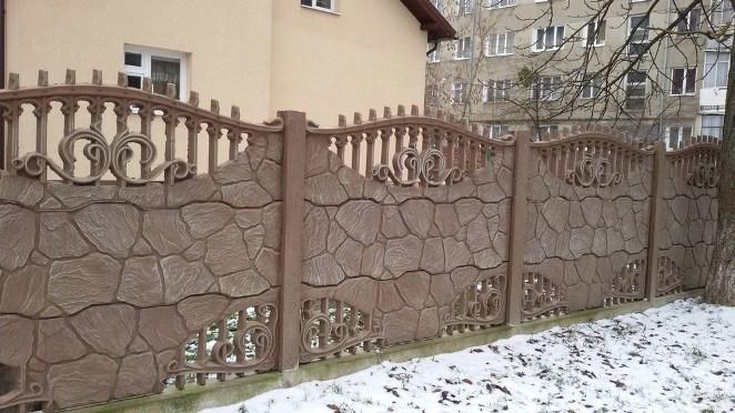 Облаштування ділянки бетонною продукцією - парканами